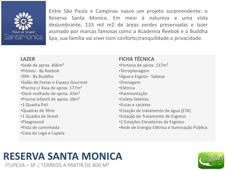 Reserva Santa Mônica - Salles Imóveis Itupeva - Jundiai